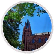 Church In Sc Round Beach Towel