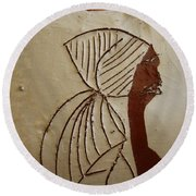 Church Lady - Tile Round Beach Towel