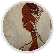 Church Lady 10 -tile Round Beach Towel