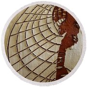 Church Lady 8 - Tile Round Beach Towel