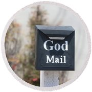 Church Mailbox In Arroyo Grande Round Beach Towel