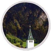 Church Of Bad Oberdorf  Round Beach Towel
