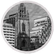 Church Of Our Lady And Saint Nicholas Liverpool Round Beach Towel