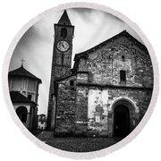 Church Of Santi Gervasio And Protasio Round Beach Towel