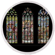 Church Of St. Barbara, Kuntna Hora, Czech Republic, Trilogy Round Beach Towel