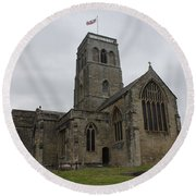 Church Of St. Mary's - Wedmore Round Beach Towel