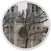 Church Of The Nation Round Beach Towel