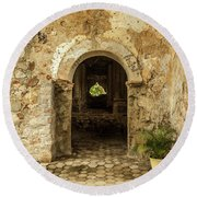 Church Ruins At El Rosario, Sinaloa Round Beach Towel