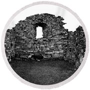Church Ruins Hvalsey Round Beach Towel