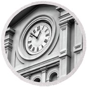 Church Time - St Louis Cathedral - New Orleans Round Beach Towel