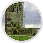 Church Tower - Remains Of St Helens Church Round Beach Towel