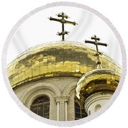 Church1 Round Beach Towel
