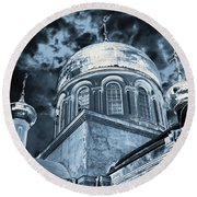 Church2 Round Beach Towel