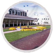 Churchill Downs Paddock Area Round Beach Towel