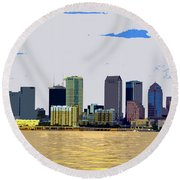 Cigar City Skyline Round Beach Towel