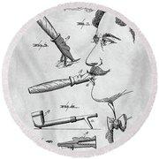 Cigar Holder  Round Beach Towel