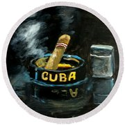 Cigar Round Beach Towel