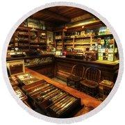Cigar Shop Round Beach Towel