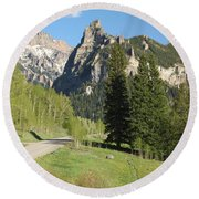 Cimarron Country Round Beach Towel by Eric Glaser