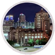 Cinci From The Opposite Side Round Beach Towel