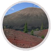 Cinder Cone And Painted Sands Round Beach Towel