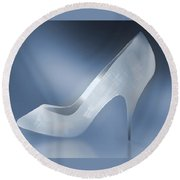 Cinderella's Slipper Round Beach Towel