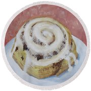 Cinnamon Roll Round Beach Towel