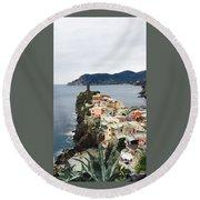 Cinque Terre Round Beach Towel