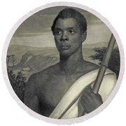 Cinque, The Chief Of The Amistad Captives Round Beach Towel