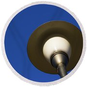 Circle And Blues Round Beach Towel