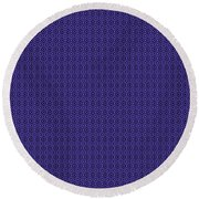 Circle And Oval Ikat In Black N30-p0100 Round Beach Towel
