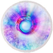 Circle Eye  Round Beach Towel by Setsiri Silapasuwanchai