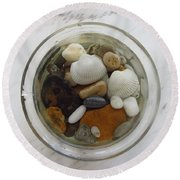 Circle In Glass And Stone 1 Round Beach Towel