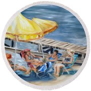 Circle Of Friends Round Beach Towel