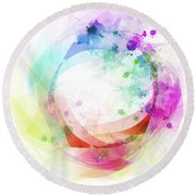 Circle Of Life Round Beach Towel