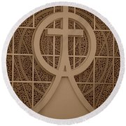 Circle T Church Round Beach Towel
