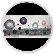 Circles And Cycles Round Beach Towel