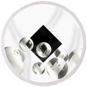 Outer Limits Round Beach Towel