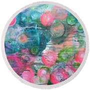 Circles For San Marco  Round Beach Towel