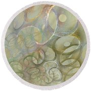 Circles In Circles Round Beach Towel