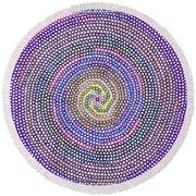 Circles Of Circles In Circles Round Beach Towel