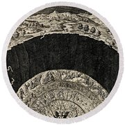 Circles Of Hell And Limbo, Jan Wierix Round Beach Towel