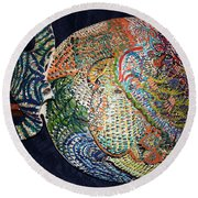 Circles Of Understanding Round Beach Towel