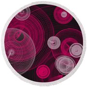 Circles Within Circles Round Beach Towel