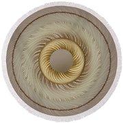 Circular Abastract Art 5 Round Beach Towel