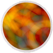 Circular Flow Christmas Abstract Round Beach Towel