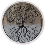 Circular Tree Of Life  Round Beach Towel