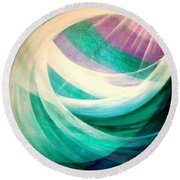 Circulation Round Beach Towel