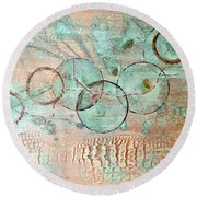 Threads Of Possibility Round Beach Towel