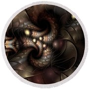 Circumstance And Puzzlement Round Beach Towel